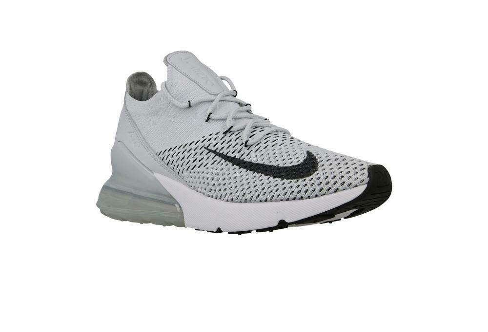 Mens NIKE AIR MAX 270 FLYKNIT Pure Platinum Trainers AO1023 003