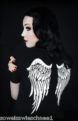 Restyle T-Shirt Engel Feder Flügel Gothic Angel Wings Steampunk Fantasy Fee RS53