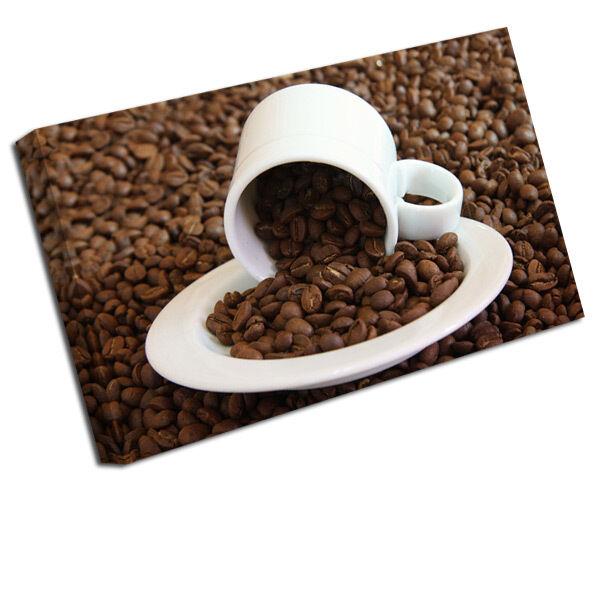 Mettre la réduction jusqu'au bout Cuisine Toile Image Image Image Grain De Café Tasse Estampe f6629c