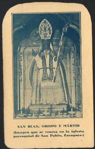 image pieuse ancianne de San Blas santino holy card andachtsbild estampa bT2kCbih-09113610-716872673