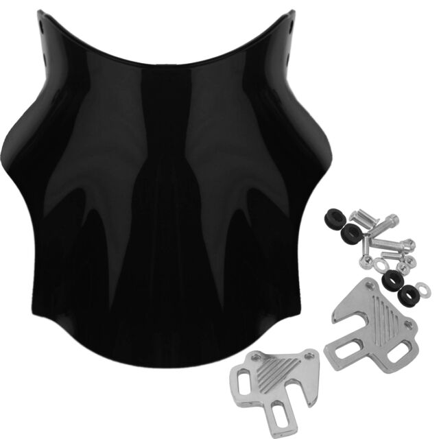 Windscreen Windshield With Screws For Black HONDA CB400 Front Protector CB-400
