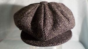 62f340c8 8 piece cap 100% wool Harris tweed newsboy baker boy gatsby cabbie ...