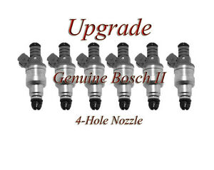 *BEST UPGRADE* A4 A6 V6 2.8L 4 Nozzle Genuine Bosch Fuel Injector Set of 6