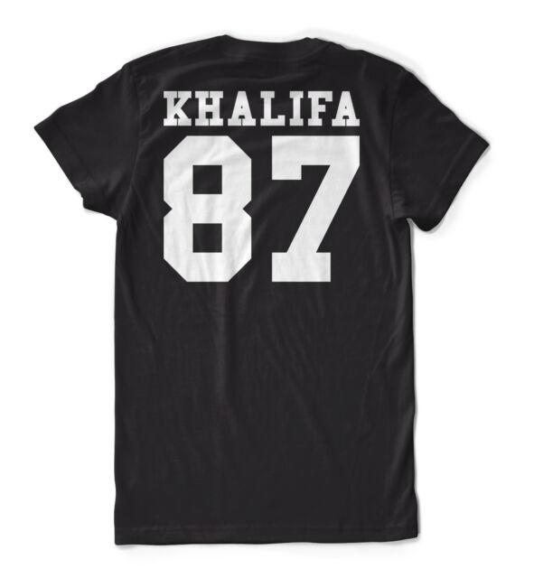 Khalifa 87 T-Shirt Black Backprint Wiz Taylor Gang Dope Homies Asap Pyrex Dope