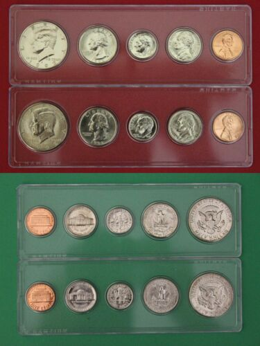 1992 P D Mint Set In Snap Tight Display Cases Uncirculated Combined Shipping