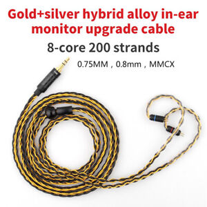 TRN-T1-0-75-0-78mm-MMCX-Replacement-Braided-8-Strands-HiFi-Earphone-Cable-Strik