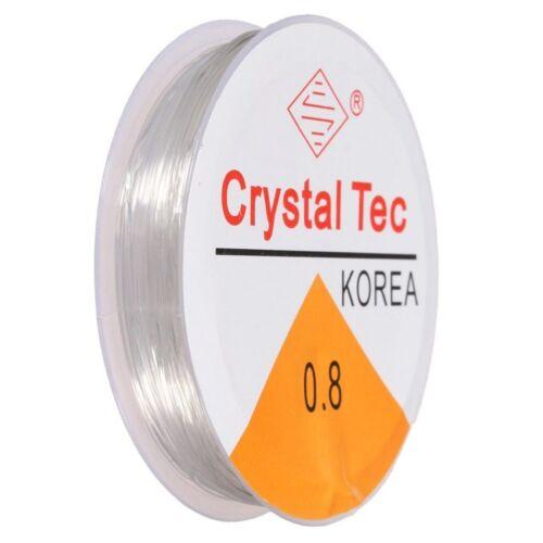 1 Rouleau de 10 m clair stretch Beading Cord 0.8 mm Craft KIDS CRAFT bracelets