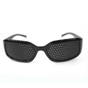 Unisex-Pin-Hole-Black-Vision-Care-Eyeglasses-Pinhole-Improve-Glasses-Eyesight