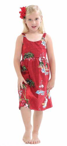 Hawaii Hangover Girl Elastic Strap Dress Christmas Dress Aloha Santa Red Cruise