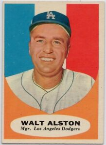 1961-Topps-136-Walt-Alston-VG-VGEX-Wrinkle-Los-Angeles-Dodgers-FREE-SHIPPING