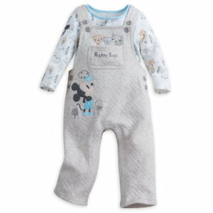 f4d00a3d8 Image is loading Disney-Store-Mickey-Mouse-Dungaree-Set-Baby-Bodysuit-