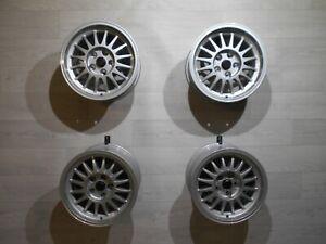 4x-Audi-Urquattro-Alufelgen-8Jx15-ET24-5x112-Felgen-857601025D-Quattro-Coupe-85