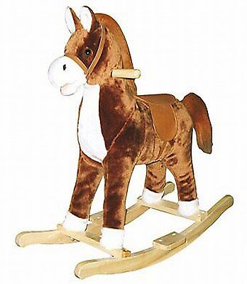 Schaukelpferd Bino Kento  82535 bewegt Mund und Schwanz by Brand Toys