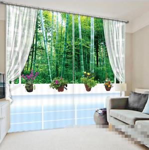 3D Bamboo 2 Cortinas de impresión de cortina de foto Blockout Cortinas Ventana De Tela nos