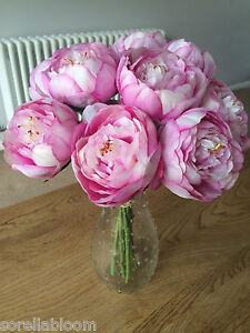 Image Is Loading Beautiful Pale Pink Peony Artificial Flower Arrangement In