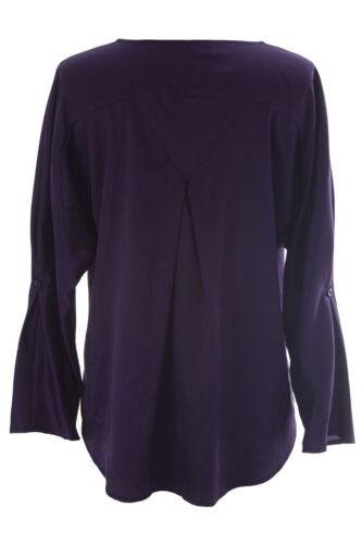Monet Femmes Raisins August Manche Chemisier Henley Style Roulé Silk twEq55v