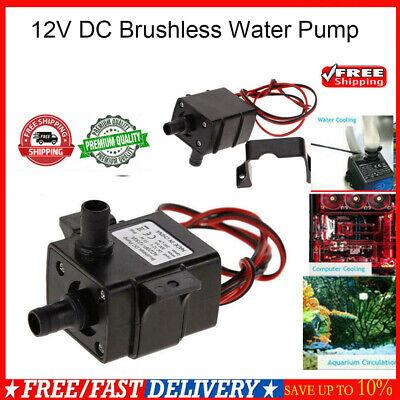 DC12V 280L//H Electric Mini Water Pump Brushless Motor Submersible for Aquariu JP