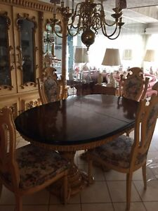 Image Is Loading Italian Provincial Antique Dining Set