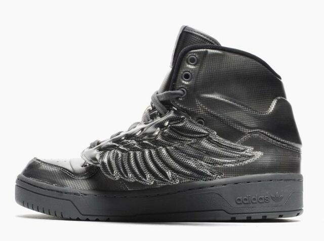 adidas Jeremy Scott Wings Molded Men US 11 M29014 Black Gray SNEAKERS Shoes c8c3e0485edd
