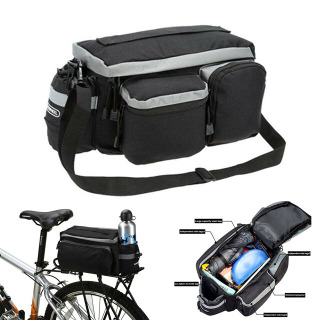 20L Bike Bicycle Cycling Outdoor Double Pannier Rear Seat Tail Bag Waterproof US