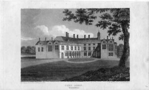 Comb-Abbey-Warwickshire-Engraving-By-J-Storer-IN-1810-Of-A-Drawing-Of-Davis