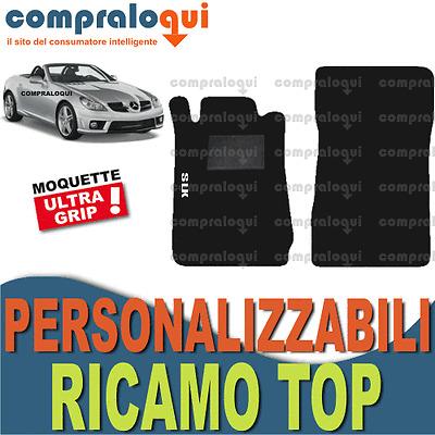 RICAMO: old AMG bianco R171 Fix! TAPPETI MERCEDES CLASSE SLK 2004-10