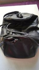 """20"""" Black Pebble Grain Leather Duffle Tote Bag- Gym Carry Luggage"""