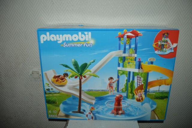 Box Playmobil 6669 Park Games Aquatic Waterslide Summer Fun New 2014