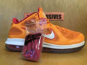 best value 785f1 00fac Image is loading Nike-Lebron-9-IX-Low-Floridian-2012-Orange-
