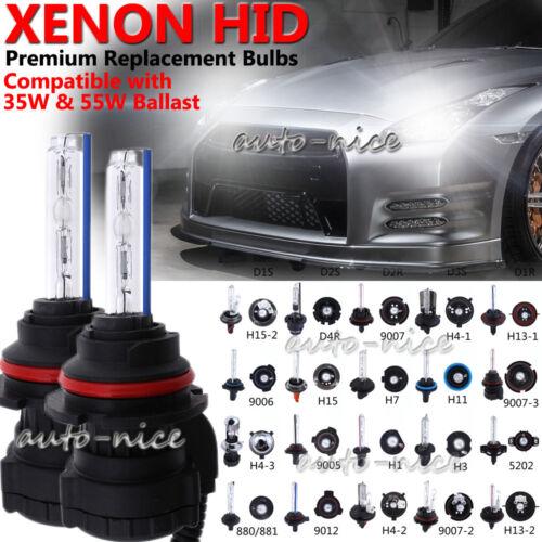 2pcs Xenon HID Headlight Replacement Bulbs Single Beam Daul Beam Bi-Xenon Lights