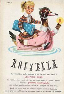 PUBBLICITA-039-1952-LANE-ROSSI-TESSUTO-LANA-ROSSELLA-IRRESTRINGIBILE-MAGLIERIA-BIMB