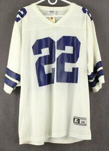 sale retailer 3e117 c5a6d Details about Official NFL Dallas Cowboys STARTER BRAND E SMITH #22  FOOTBALL JERSEY Unisex L