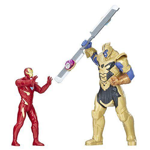 Marvel E0559EW0 AVN Iron Man vs Thanos Battle Playset, Boys, Multi-Colour, 6-Inc