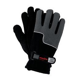 Winterhandschuhe Handschuhe Super Warm Fleecestoff Grau Schwarz Gr. 10 NEU TOP