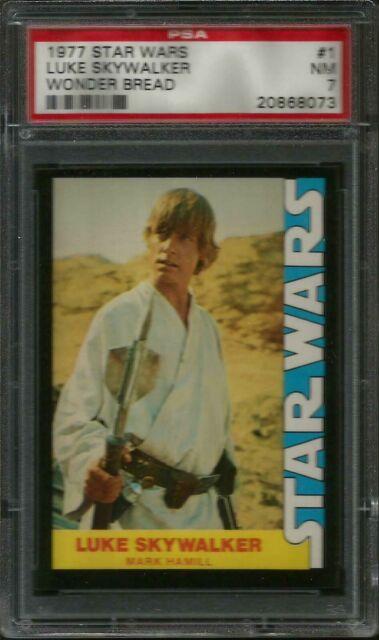 1977 Topps Star Wars Wonder Bread Luke Skywalker #1 PSA 4 VGEX