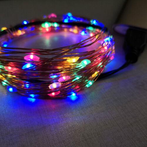 10M Xmas Thanksgiving Tree Fairy String Lighted 100 LED String Lights Waterproof