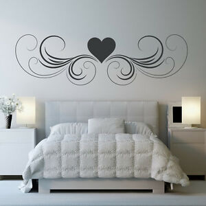image is loading heart with swirls border love hearts wall stickers - Home Decor Decals