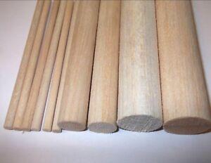 45cm-450mm-Wooden-balsa-dowels-Arts-Crafts-Models-5mm-6mm-8mm-10mm-25mm