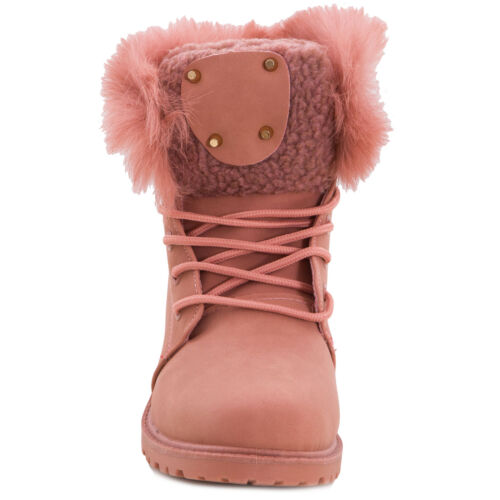 Rangers Chaud Bottes W8120 Femme Neuf Fourrure Chaussures Lacé 8g8w7Bzq