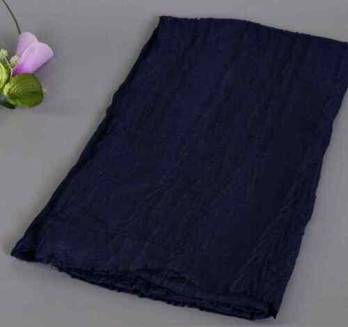 High Quality Plain Large Viscose Cotton Crimped Fashion Hijabs Scarf Sarong UK