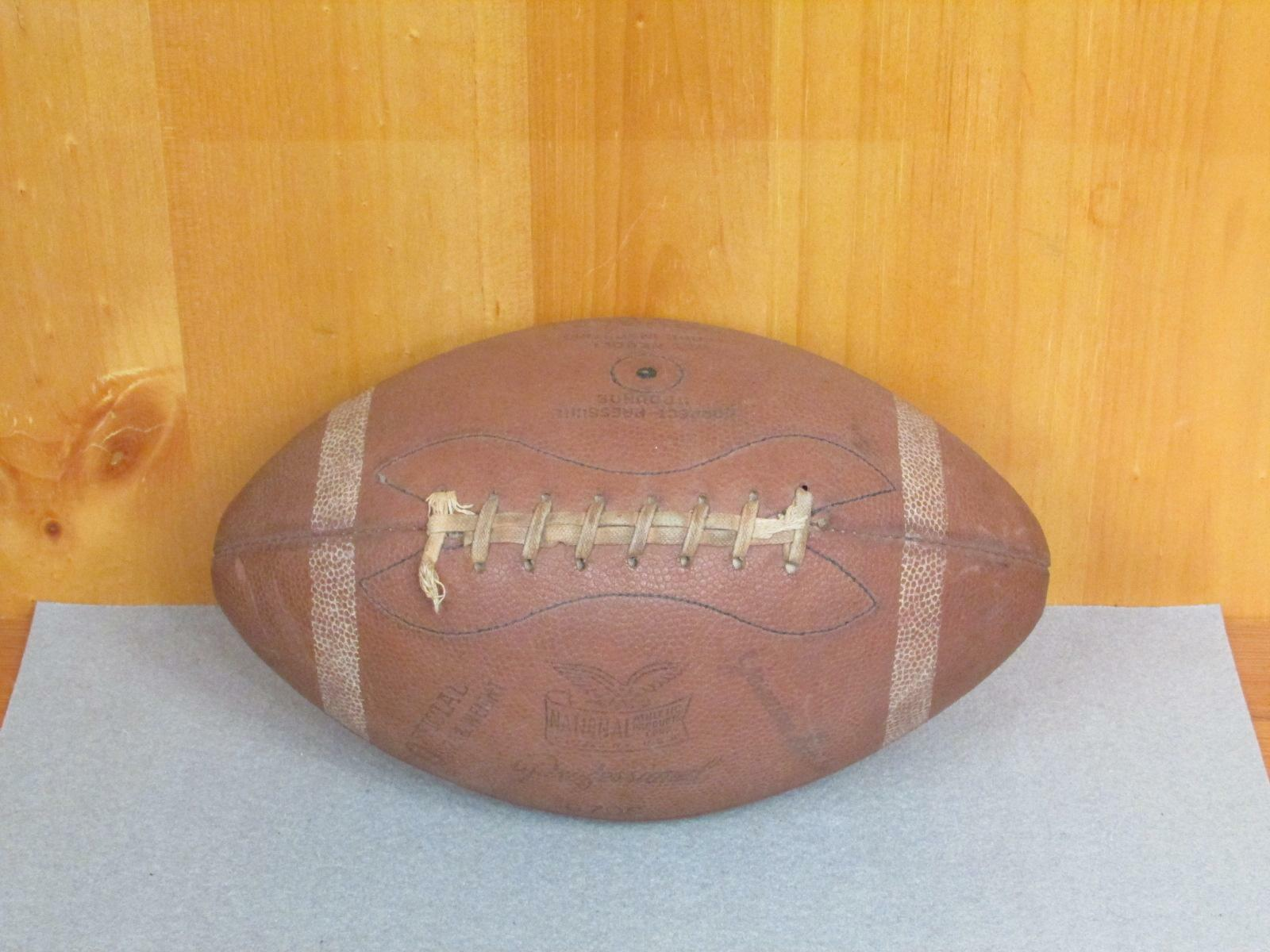 Vintage National Athletic Goods early Genuine Leather Football with Laces 670S