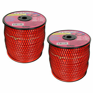 """Cyclone 2.4mm/"""" X 15m  FT Nylon Commercial Grass Weed String Trimmer Line Edger"""