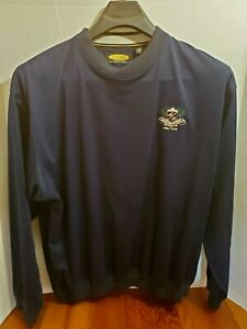 Play Dry Greg Norman Golf Jacket Pull Over Long Sleeve V Neck Augusta Pines Logo