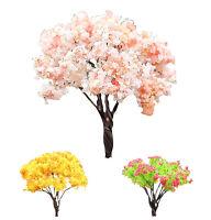 2PCS Sakura Tree Fairy Miniature Micro Garden Ornament Plant Pot Dollhouse Decor