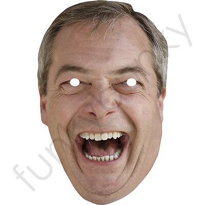 Nigel Farage Version 2 All Our Masks Are Pre-Cut! Politician Card Mask