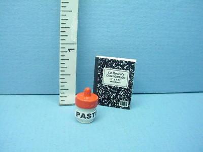 """Miniature Composition Book /""""LaRocco/'s Black Cover/"""" 1//12th Scale LG"""