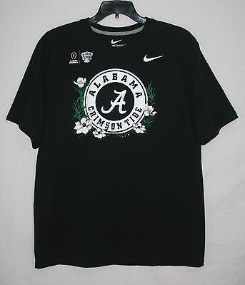 Nike Alabama Crimson Tide Sugar Bowl Playoff T Shirt 2XL Black Short Sleeve XXL