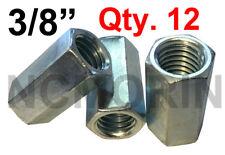 Qty 12 Hex Rod Coupling Nuts 38 16 X 1 18 Threaded Rod Connectors Zinc Coupler