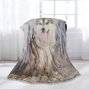 Animal-Plush-Throw-Blanket-Quilt-Soft-Warm-Flannel-Fluffy-Cozy-Dog-Throw-Blanket