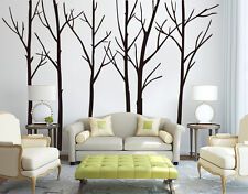 Hand Carving Birch Forest Tree Room Wall Stickers Decal Vinyl Decor UK RUI213